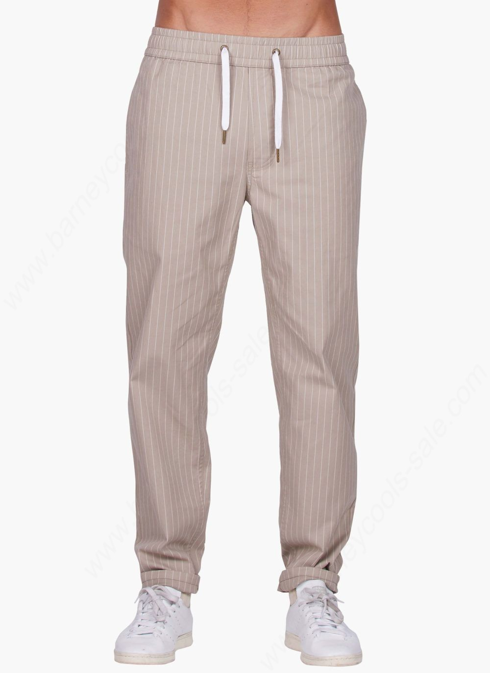 Barney Cools Man B.rabbit Chino (Carrot Fit) Tan Stripe Pants - Barney Cools Man B.rabbit Chino (Carrot Fit) Tan Stripe Pants